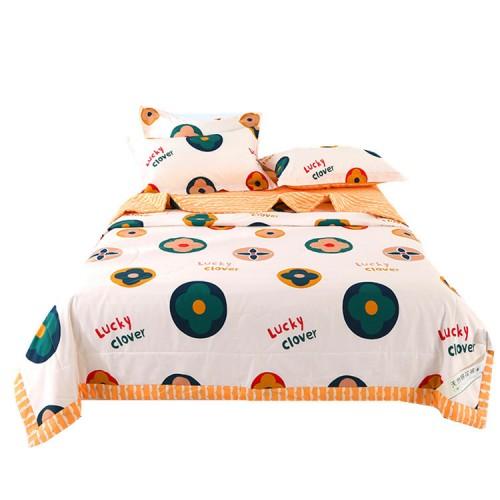 100% Baumwolle, Baumwolle innen und außen, einteilige Sommerdecke, vierteiliges Set, frische Farbe, bequeme Textur, dünne Sommerdecke
