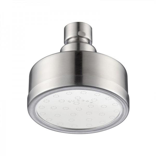 Duschkopf aus Silikon, Regenwasser aus Edelstahl, fester Hochdruck-Duschkopf, 360 ° verstellbarer Duschkopf für Badezimmer