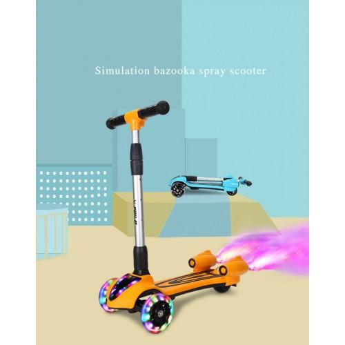Kinderscooter, Sprühroller für Jungen und Mädchen, höhenverstellbare und bewegliche Kinderscooter mit PU-Blitzrädern / Kinderscootern