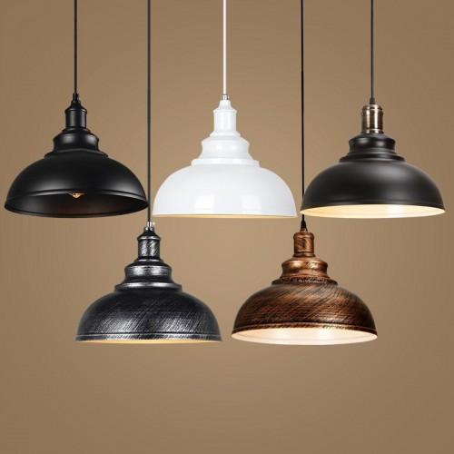 Scheunen-Pendelleuchten, 1-Licht-Hängelampe für den Esstisch in der Küche F Ölgeriebene Bronze 12-Zoll-Deckenkuppel-Pendelleuchte E27-Sockel
