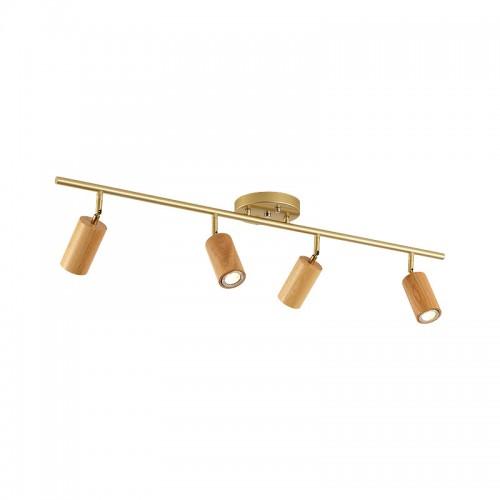 Schienenleuchten, Hintergrundwandleuchten, Wohnzimmer-LED-Strahler, Massivholz-Schienenstrahler, einfache und leichte luxuriöse dekorative Beleuchtung
