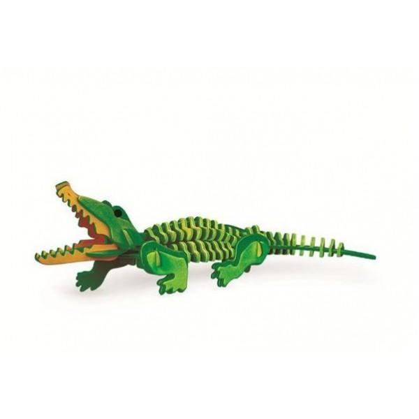 3D, Holzmontage und Färbung, Tierreihenrätsel, Montage und Färbung selbst | Krokodil