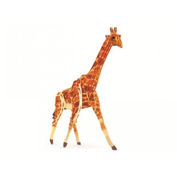 3D, Holzmontage und Färbung, Tierreihenrätsel, Montage und Färbung selbst | Giraffe