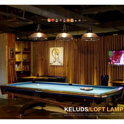 Industrielle loft Vintage Billard Pendelleuchte Eisen und Glas Shades Esstisch Kronleuchter Restaurant Bar Hängelampe