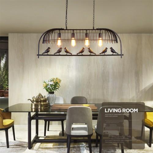 Nordisch modern, Vogelkäfig Restaurant Lichter, kreative und individuelle einfache Bar, Café, Schlafzimmer Studie, Eisen Vogel Kronleuchter