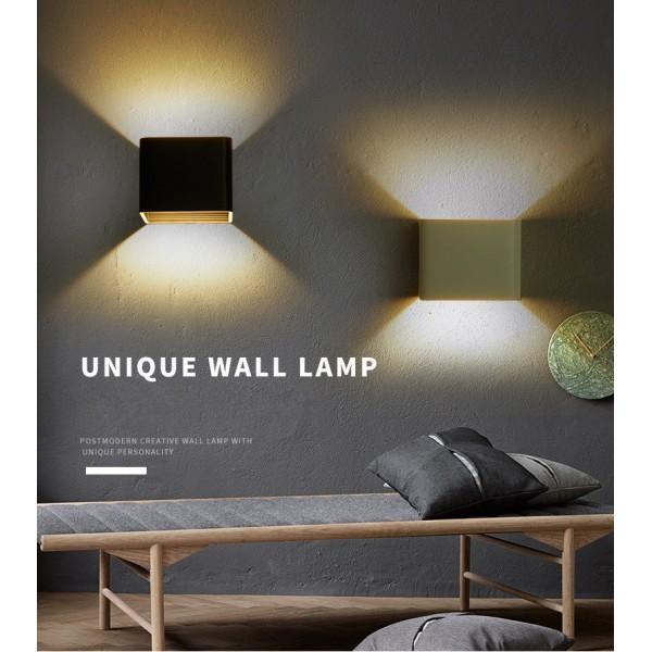 7W LED Wandleuchte Wandlampe mit einstellbar Abstrahlwinkel Design Wasserdichte IP 65 LED Wandbeleuchte 2700K Warmweiß Schwarz