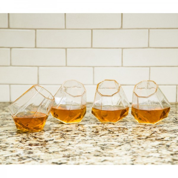 Diamant Geformte Whisky Gläser 4er Set