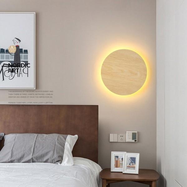 LED Wandleuchte Holz Wandlampe Design Kreative Wandleuchte Treppen