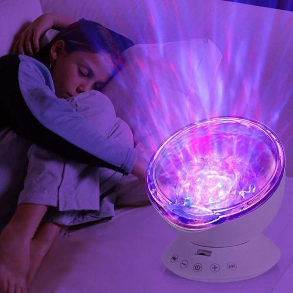 Projektor Kinder Nachtlicht Ozean Lampe Redner LED Fernbedienung mit eingebautem Mini-Musik-Player
