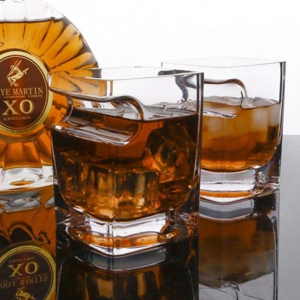 Zigarre Glas, Whisky Gläser mit Zigarrenetui 2er Set