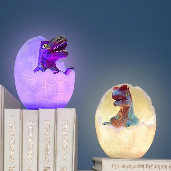 Dinosaurier Nachtlicht Nachtlampe kinderzimmer Nachtlicht kind dimmbar Nachttischlampe baby Kindernachtlicht Led Nachtlicht kinder Geschenk jungen 5 jahre Nachtlichter 3D Nachtlampe mit akku