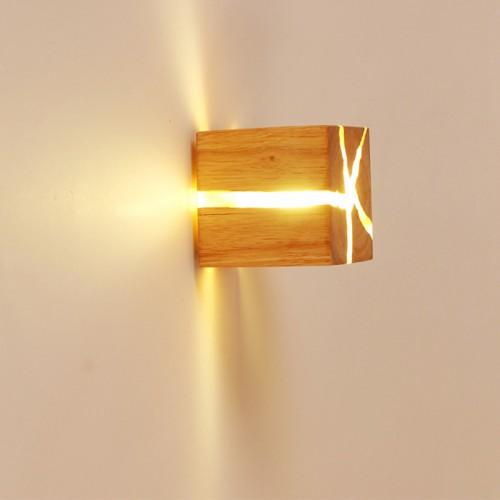 Hölzerne Riss Wand Lampen, 5W Kreativ Wandleuchte Klein Nachtlicht Warmweiß  Riss Wandlampe LED Nachttischlampe Gangbeleuchtung Korridor wandbeleuchtung