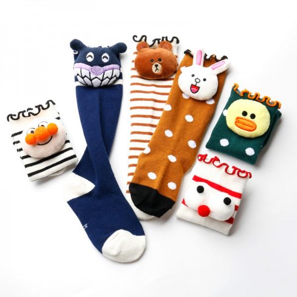 Kind Karikatur Puppe Socken Baumwolle Mittlere Strümpfe Mädchen Socke