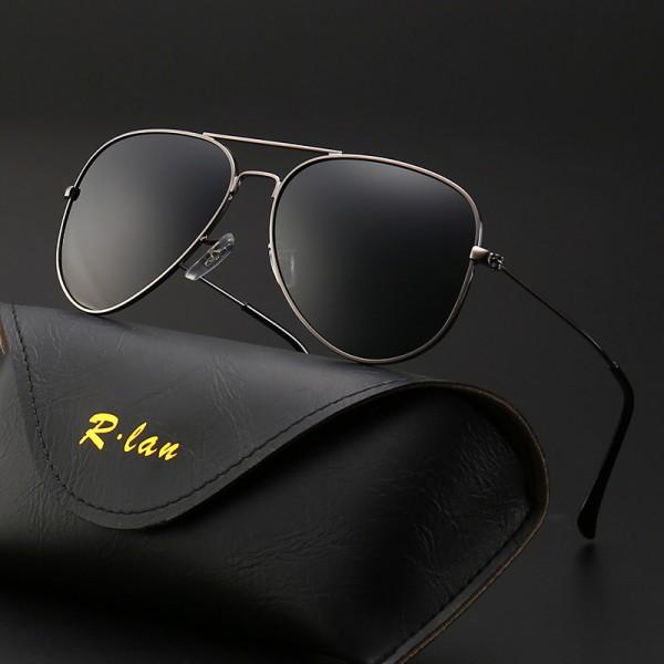 Mode Metallrahmen Verspiegelt Linse Herren Damen Sonnenbrille Aviator Sonnenbrille