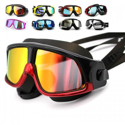Profischwimmbrille gespiegelte Gläser - Antibeschlagbeschichtung – Wasserdicht Schwimmbrille – Beinhaltet ein Schutzetui & Ohrstöpsel