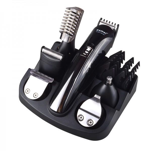 Haarschneider Multifunktions-Haarschneider,Stylingset für Gesichts- und Körperhaare, 6 abnehmbare Aufsteckköpfe