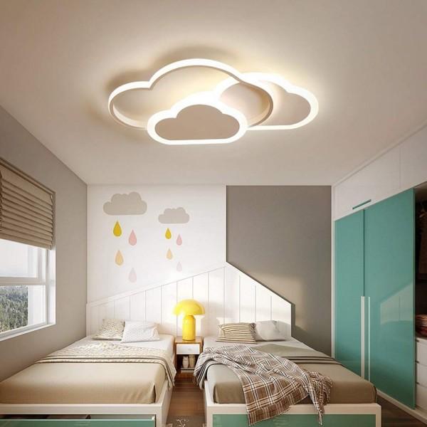 [Rabatt] LED Deckenleuchte, Creative Cloud Deckenleuchte, Mit Fernbedienung Dimmbare 6cm Ultradünne Weiße Und Rosa Decken Lampe, for Kinderzimmer Kinderzimmer Schlafzimmer Wohnzimmer Dekoration Beleuchtung