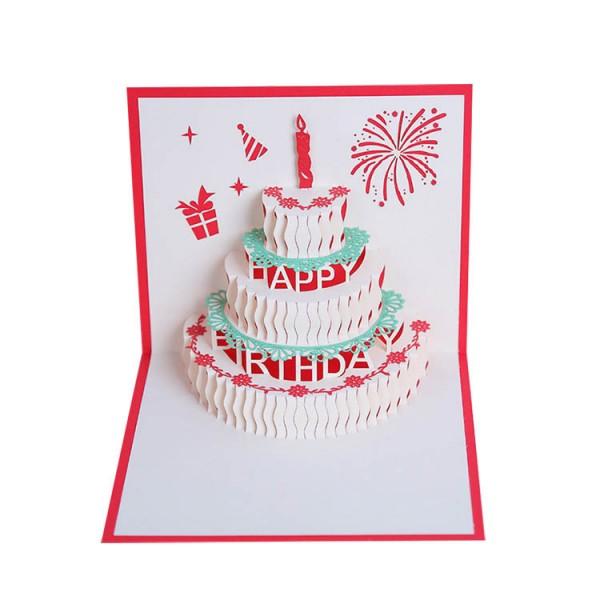 Grußkarten Geburtstag, Geburtstagskarte Geschenk für Ihre Verwandten, Freunde und Liebhaber Special, 3D Pop-up-Grußkarte mit schönen Papier-Cut, Umschlag enthalten (Happy Birthday)