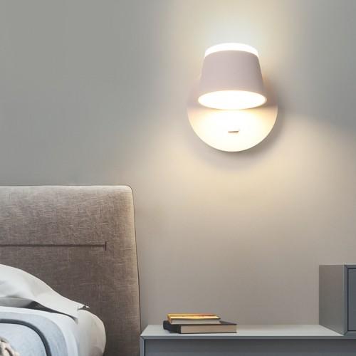 LED Wandleuchte Zwei-Wege-Licht Dimmer Wandleuchte einfach mit Schalter Nachttischlampe