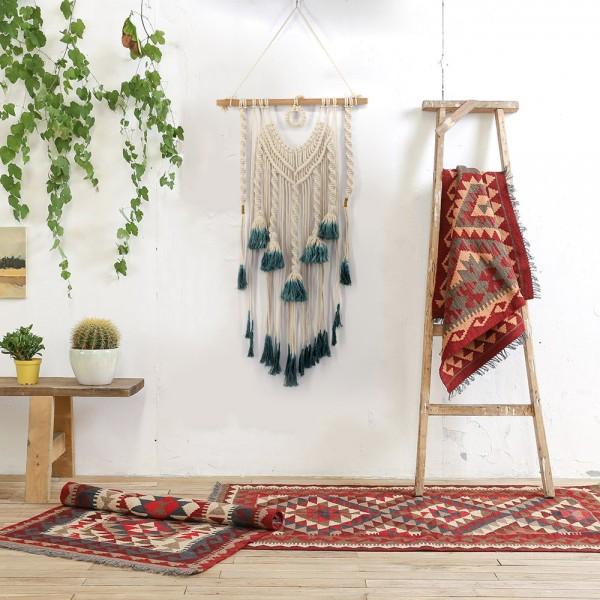 Makramee Wand aufhängen – Handgemachte Makramee Szenerie – gewebt Wand Kunst – Bohemian Wand decor- Textile Wandbehänge