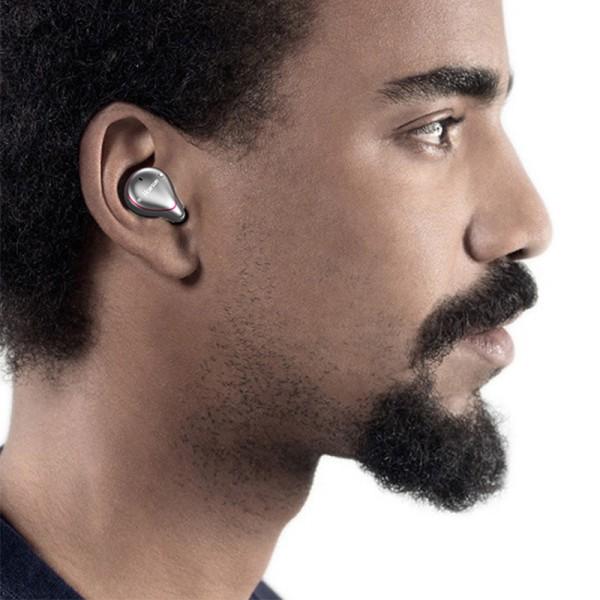 Drahtlose Ohrhörer Bluetooth 5.0 True Mini Drahtlose Dual-Ear-Lautstärkeregler Kopfhörer Stereo-Ohrhörer Ipx7 Wasserdichtes Sport-Headset mit Ladekoffer / eingebautem Mikrofon
