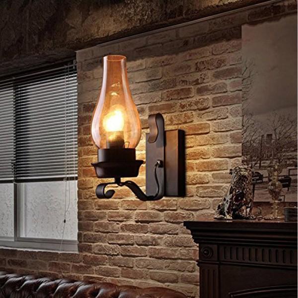 Rustikale Wandleuchte Antik Wirkende Innen Kreativwirtschaft Eisen WandlampeRustikalem Design Schwarz