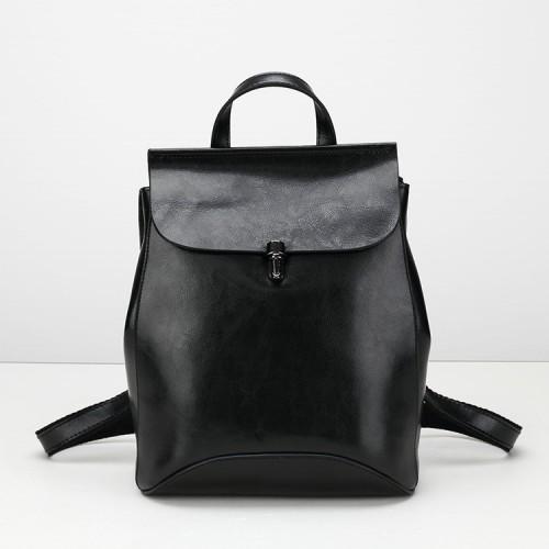 loikee Echtes Leder Casual Mode Rucksack Rucksäcke Taschen für Frauen Umhängetasche