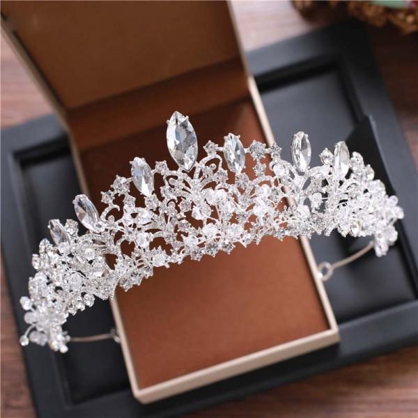 European style Krone headwear Braut Hochzeit Tiara Braut Make-up Kopfschmuck Prinzessin Krone Hochzeit Stil