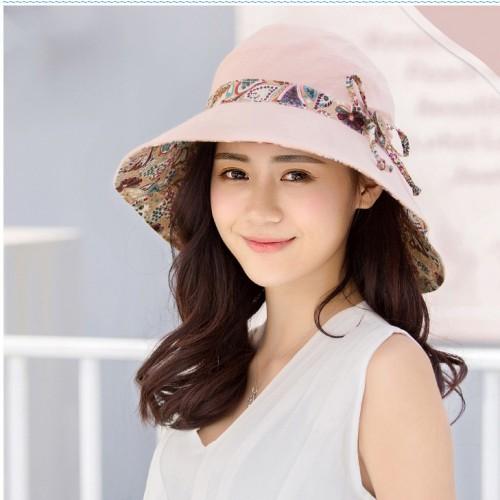 Damen Sonnenhüte Sommer Reversible UPF 50+ Strandhüte Faltbare Kappe mit breiter Kante