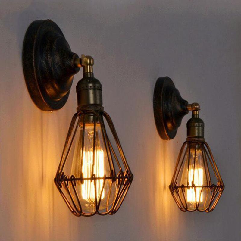 2er Pack Wandlampe Vintage Wandleuchte Retro Deckenleuchte ...