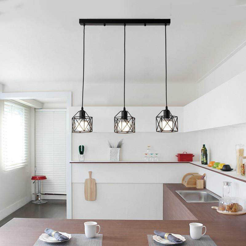 Industrielampe Haengeleuchte Retro Industrie Lampe Schwarz Kueche Vintage  Deckenleuchte Wohnzimmer Esszimmer Restaurant Keller Untergeschoss (Schwarz  ...
